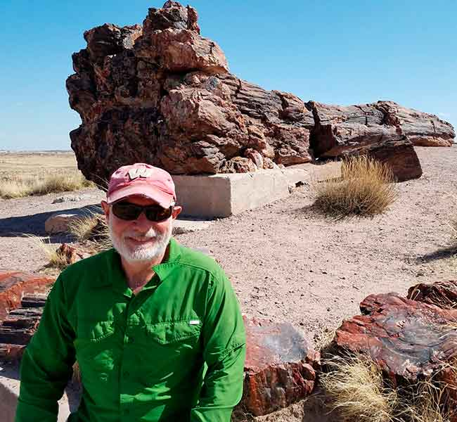 Terry at Petrified Forest NP